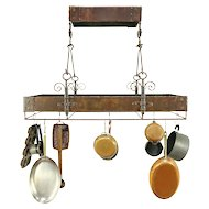 Wrought Iron Kitchen Hanging Pot Rack, Bronze Finish #30305