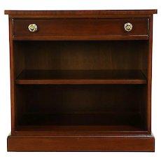 Traditional Vintage Mahogany Bookcase Credenza, Desk Side Cabinet Rway #30317