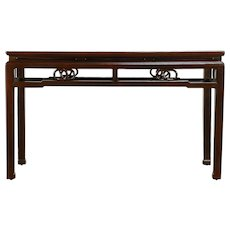 Chinese Carved Antique Ash Hall Console or Sofa Table #30324
