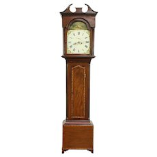 Georgian 1790 Antique English Grandfather Tall Case Clock Raper of Thirsk #30331