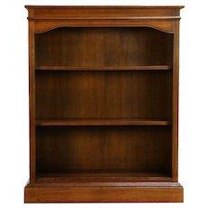 Walnut Vintage Office or Library Bookcase, Adjustable Shelves #30356