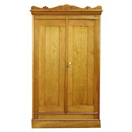Victorian Eastlake Antique Child Size Armoire or Linen Cabinet #30408