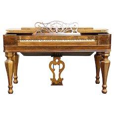 Rosewood Antique Melodeon Organ, Plays Poorly, Phelps Goodman NY #30436