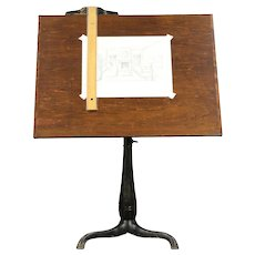 Drafting Table Adjustable Artist Antique Drawing Desk, Wine Table #30481