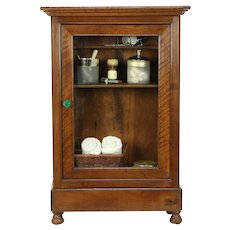 Barber Antique Hanging Cupboard or Countertop Cabinet, Medicine Chest #30503