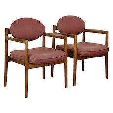 Pair of Midcentury Modern 1960's Danish Chairs, All Original, Jens Risom #30518