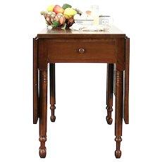Victorian Antique Walnut Gate Leg Sofa, Dining, Breakfast Table #30522
