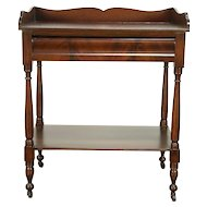 Sheraton Antique 1830 Washstand, Server, Beverage Bar or Hall Console #30634