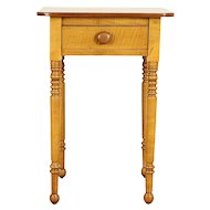 Cherry & Tiger Maple Antique 1830 Ohio Nightstand or End Table #30763