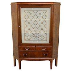 Midcentury Modern Vintage Rosewood Scandinavian Corner Cabinet #30787