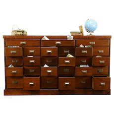 Walnut & Cherry Antique 26 Drawer Apothecary Drug Store Collector Cabinet #30837