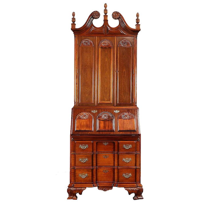 Awesome Traditional Georgian Style Mahogany Vintage Secretary Desk Bookcase 30862 Home Interior And Landscaping Mentranervesignezvosmurscom