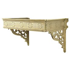 Antique Architectural Salvage Cast Brass Wall Shelf Holder #30892