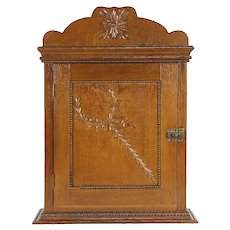 Oak Antique Medicine Chest, Hanging or Countertop Cupboard or Cabinet #30915