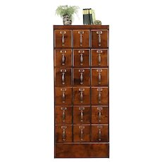 File or Collector Cabinet Antique 18 Drawers, Original Hardware  #30925