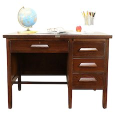 Arts & Crafts Mission Oak Antique Craftsman Desk, Welch Chicago #30988