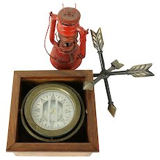 Nautical Antique Ship Compass in Box, Didigo by Sherman of Seattle #30999