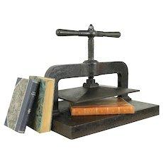 Cast Iron Antique 1890 Bookbinder Book Press #31001