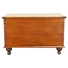 Country Pine Antique 6 Board Blanket Chest or Trunk, Ohio #31018