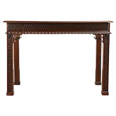 Georgian Style Writing Desk or Hall Console Table, LeSage #31020
