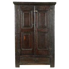 Country Pine Antique Primitive Hanging Cabinet or Countertop Cupboard #31021