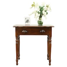 Victorian Antique Cherry Lamp or End Table, Nightstand, Carved Pulls #31049