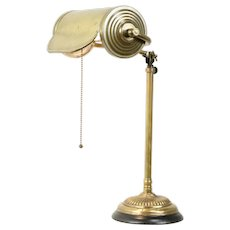 Brass Antique Adjustable Height Swivel Desk or Piano Lamp #31077