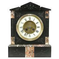 French Antique 1880 Classical Marble Mantel Clock #31102