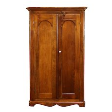 Country Pine Antique 1850's Primitive Armoire, Wardrobe or Closet #31122