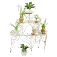 Victorian Iron & Wire Antique1890 Tiered Garden Plant Stand #31190