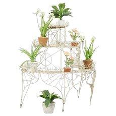 Victorian Iron & Wire Antique1890 Tiered Garden Plant Stand #31190
