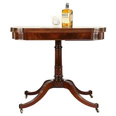 Traditional Antique Mahogany Hall Console, Opens to Game Table #31206