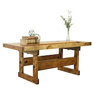 Coffee Table Salvaged from Antique Maple Carpenter Workbench  #31211