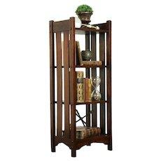 Arts & Crafts Mission Oak Antique Craftsman Bookshelf or Bath Shelf #31250