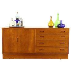 Teak Midcentury Modern 1960 Vintage Credenza, Sideboard, Server  #31258