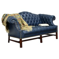 Chesterfield Vintage Tufted Leather Sofa or Loveseat #31286