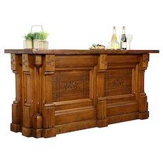 Victorian Eastlake Antique 1875 Pine Store Counter, Kitchen Island, Bar #31320