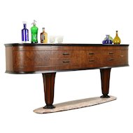 Italian Art Deco Antique Console or Sideboard, Rosewood & Marble #31368