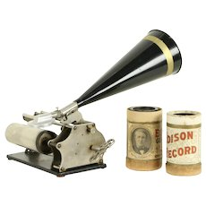 Graphophone Columbia Antique Cylinder Phonograph Record Player #31399