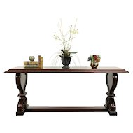 Carved Mahogany Antique Console, Sofa, Hall or Library Table #31444