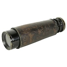Telescope, Antique Brass & Leather, Inverted Astronomical  #2 #31447