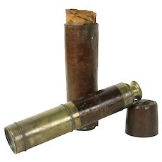 Telescope, Antique Brass & Leather, Extends, Sun Shade #5 #31450