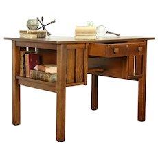 Mission Oak Art & Crafts Antique Craftsman Library Table, L & JG Stickley #31478
