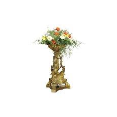 Victorian Bronze Antique 1850 Sculpture Planter, Centerpiece, Card Tray  #31500