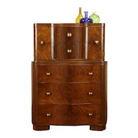 Midcentury Modern Vintage Walnut Chest or Dresser #31506