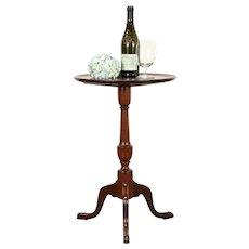 Vintage Mahogany Chairside Tea Table, Pedestal Base #31518