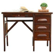Arts & Crafts Mission Oak Antique Craftsman Child Youth Desk, TV Console #31575