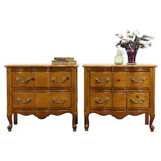Pair of Country Pine Vintage Chests, Nightstands or Lamp Tables #31619