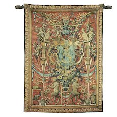 Vintage French Tapestry, King Sigismond of Krakow, Poland with Rod #31633