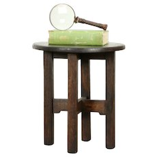 Arts & Crafts Mission Oak Antique Plant Stand, Craftsman Chairside Table #31641